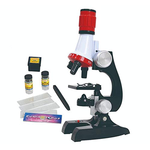 MMUSC Microscope Kit for Kids 8-12, Kids Microscope Science Kit for Student Beginners Educational STEM Toy with LED 100X-1200x Magnification, Preschool Science Toy, Blank Slides for Boys Girls Age 4+