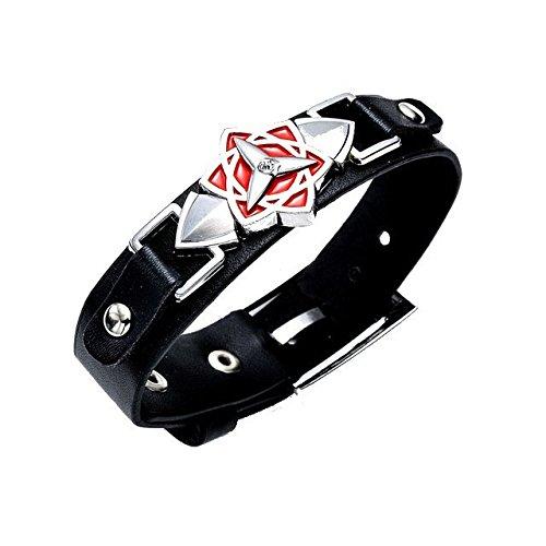 Naruto Armband Lederarmband Logo Sasuke Eternal Mangekyou Sharingan