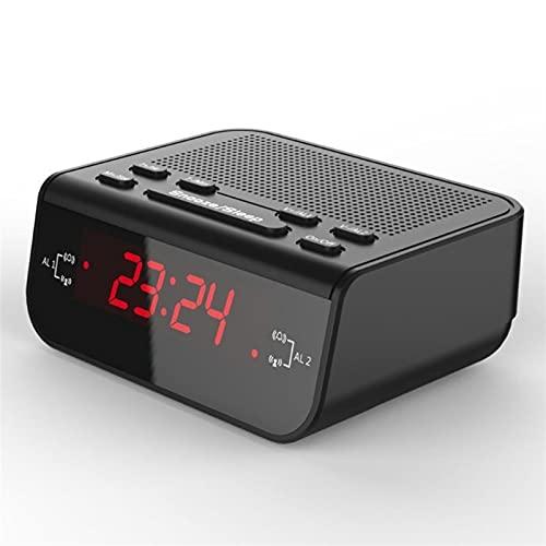 GDYJP Radio de Reloj de Alarma Digital con Temporizador de sueño de Doble Alarma DIRIGIÓ Tiempo Rojo Pantalla Desktop Clock Casa de Noche Cocina DE CASA (Color : A, Tamaño : One Size)