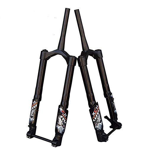 Hengnuo Bike Fat Air Fork - Electric Bike Snow Fat Gas Suspension Fork Tapered Travel 100MM Fit 4.8