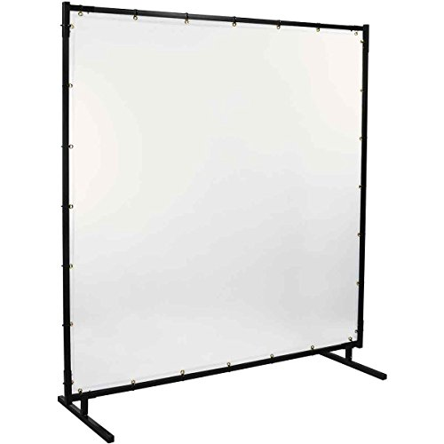 Steiner 539HD-6X8 Protect-O-Screen HD Welding Screen with 16 Mil Vinyl Curtain, Clear, 6' x 8'