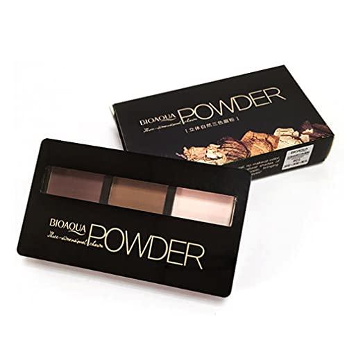 Hanone Boquanya 2 Couleurs en Option Palette de Poudre à Sourcils Maquillage ombrage avec Pinceau Brun foncé + café Clair