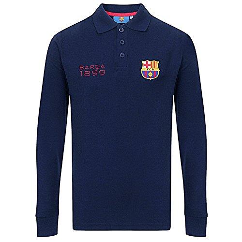 FC Barcelona - Jungen Langarm-Polo-Shirt mit Wappen - Offizielles Merchandise - Geschenk für Fußballfans - 8-9 Jahre