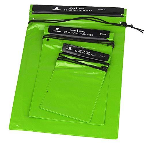 AKDSteel - Juego de 3 bolsas impermeables para guardar documentos y documentos, para cámara o teléfono móvil, mapas para kayak, pesca al aire libre