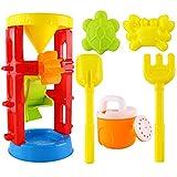 B Blesiya 6er-Set Sandkasten Spielzeug Set mit Sandmühle Eimer Rechen