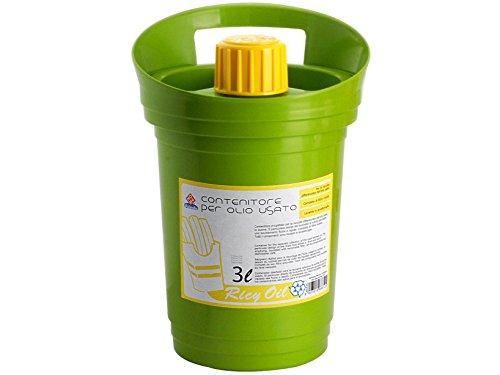HOME Ricyoil Contenitore Oglio Esausto, Plastica, 3 Litri