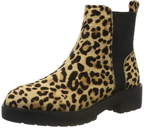 Steve Madden Damen Gliding Bootie Chelsea Boots, Mehrfarbig (Leopard 969), 39 EU