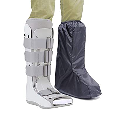 ARUNNERS Walking Boot Cover for Medical Brace Orthopedic and Fracture Cast with Integrative Slip-Resistant Rubber Sole (Black, Tall, Medium) by ARUNNERS