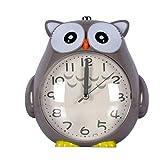 ASSNZ Reloj de Alarma silenciosa Cuarzo de la Alarma del Reloj Luminoso Estudiante niños Que adornan turística Watch (Color, Azul), Gris (Color : Gray)