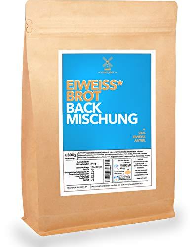 Eiweiß-Brot-Backmischung 800g | Für 2 Brote | Nur 25min Backzeit und 5min Vorbereitung | 24% Protein