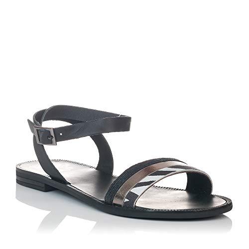 Porronet 2504 sandalen plat zwart