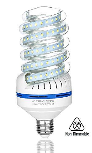Bro.Light Lampadina LED E27, 30 W Lampade Equivalenti a 250W, 2700 lumen, Luce Bianca 6000k Lampadine Led a Risparmio Energetico, Angolo di Diffusione di 360°, non dimmerabile
