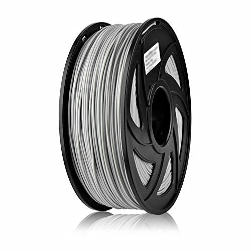 S SIENOC 1 paquete de filamento impresora 3D HIPS 1.75mm Impresora - Con 1 kg de carrete (HIPS Gris)