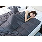 JHion - Manta cálida para el estómago y el insomnio, ideal para adultos, mujeres, hombres y niños, ideal para insomnio, autismo, estrés y ansiedad