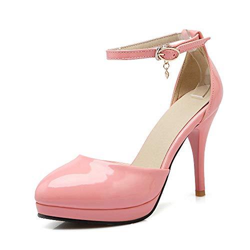 Sandalias de tacón Alto Stiletto con Plataforma y Plataforma para Mujer, Zapatos de Piel para Baile, Boda, Fiesta, Noche, Oficina, Vestido, Bombas, Negro, Rojo, Rosa, Beige