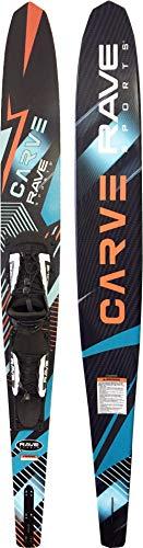 RAVE Sports Carve Slalom Water Ski - Adult, Black, Adult - Adjustable Bindings