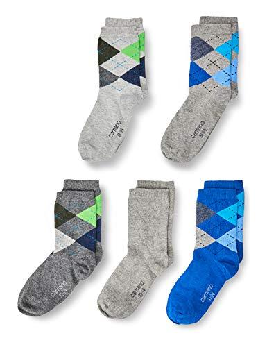 Camano Unisex Kinder 1106035000 Socken, Light Grey Melange, 35/38