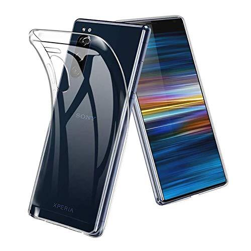 Sony Xperia 5 ケース HUAKE Sony Xperia 5 カバー ソフト 透明 TPU 素材 超薄型 背面カバー 超軽量 耐衝撃 落下防止 Sony Xperia 5 保護カバー (Sony Xperia 5)