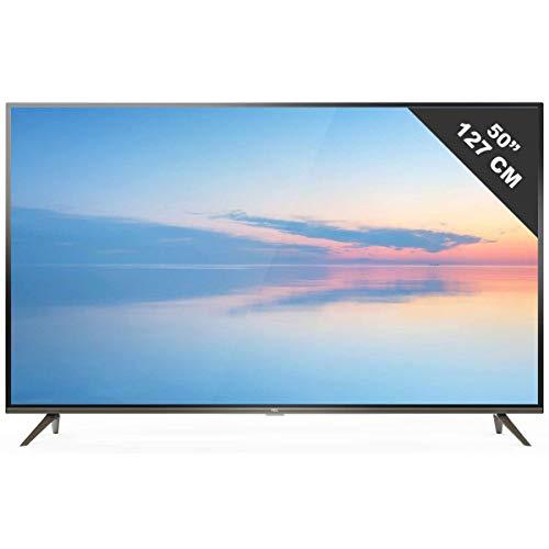 Téléviseur LED Ultra HD 4K 127 cm TCL 50EP644 - TV LED 4K 50 pouces - TV connecté / Smart TV - Netflix - Android TV - Tuner TNT terrestre / satellite - Prise casque - Son 2 x 8 W