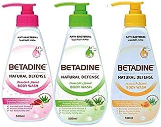 Betadine Body Wash Pomegranate, Tea Tree Oil and Manuka Honey 500ml (1+2 FREE)