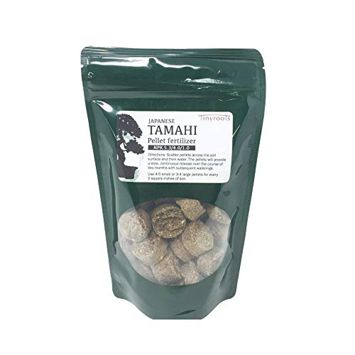 Bonsai Fertilizer Pellets by Tinyroots - Slow Dissolving Time Released Fertilizer and Plant Food, Will Not Harm Plants or Encourage Mold Growth