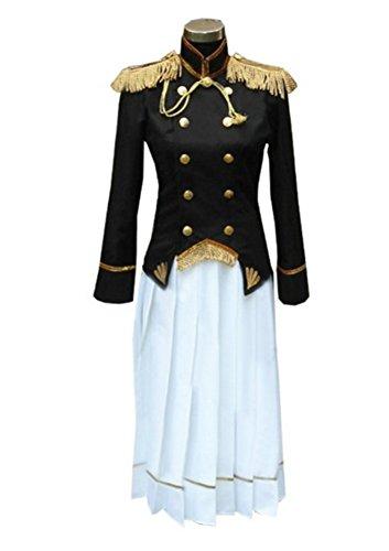 HOLRAN Axis Powers Hetalia Japan Gender Conversion Cosplay Costume (Female Size L) Black