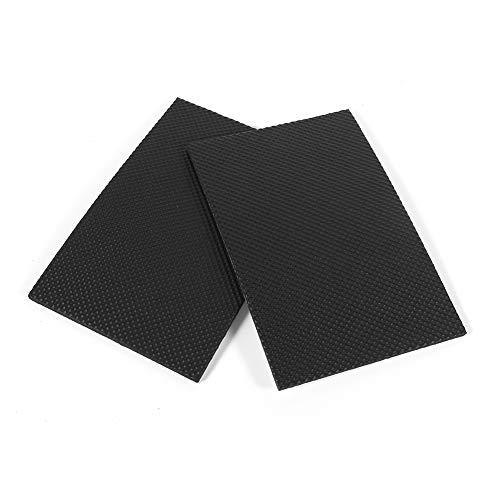 Almohadillas de Goma Protectoras - 2 Piezas Protectores de Suelo autoadhesivos Antideslizantes Negros Muebles sofá Mesa Silla Almohadillas de Goma para pies