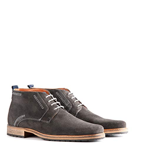 Travelin' London Wildleder Chukka Boots - Business Schuhe mit Schnürsenkel - Grau EU 43