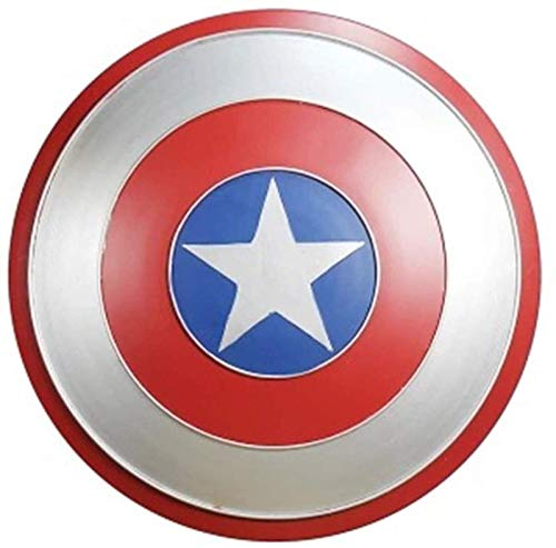 JJMUD Capitn Amrica Metal Shield Avengers Captain America Shield Adultos 1: 1 Aleacin de Manos Modelo Retro Hierro Fabricado Movie Edition Adult Cosplay Shield A, 60cm (Color : A, Size : 60cm)