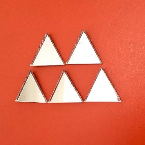 Children Activity Art Craft Scrapbooking Embellishment - Shiny Acrylic Mirror Decoration Pack of 25, (2.5cm Each)