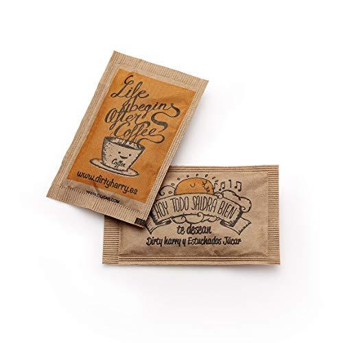 Sobres de azúcar moreno de Dirty Harry (1000 unidades de 6 gramos)