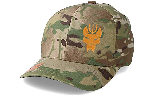 US Navy Seal Team 6 Mütze Mütze Offizielles Lizenzprodukt Multicam mit orangefarbenem Logo Flexfit Yupoong Gr. Large, multicam