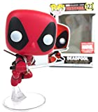 Funko Pop! Marvel X-men: Leaping Deadpool Collector Corps Exclusive Vinyl Figure (Bundled with Pop B...