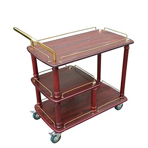 GUONING-L Rueda Sirviendo carro de la carretilla, estante del vino de la compra servir carrito con ruedas con capacidad for almacenar barra de la cocina de la sala 3 Niveles Vino té Cerveza titular es