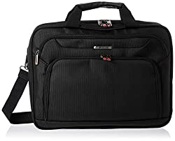 top 10 office bags for men Samsonite Xenon 3.0 Gusset Checkpoint Friendly Tech Rocker Brief Black Double