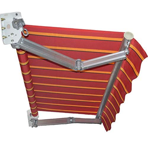 LWH Toldo retráctil Manual con manivela 200X150CM Inclinación Libre de 30-70° Impermeable y Protector Solar Viento y Herrumbre Biela