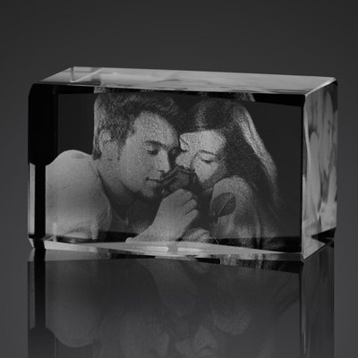 Small 3D Photo Crystal Cube