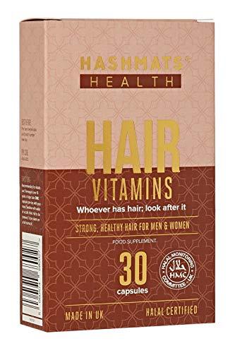HASHMATS Health Hair Vitamins | Halal Supplement Biotin, Amino Acids & More | 100% Alcohol Free | Gelatin Free