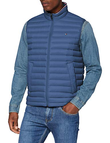 Tommy Hilfiger Herren Packable Down Vest Jacke, Blue, M