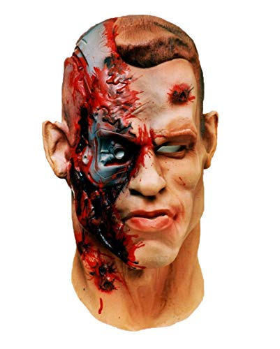 Horror-Shop Terminator Maske aus Schaumlatex