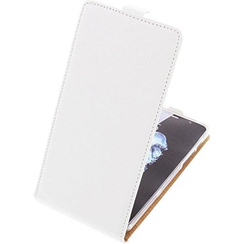 foto-kontor Tasche für Alcatel Flash Plus 2 Smartphone Flipstyle Schutz Hülle weiß