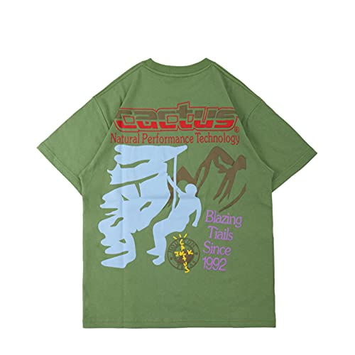 WYLYSD Hip Hop Camiseta Estampada para Hombre Ropa De Calle Ropa De Hombre Cuello Redondo Algodón Manga Corta