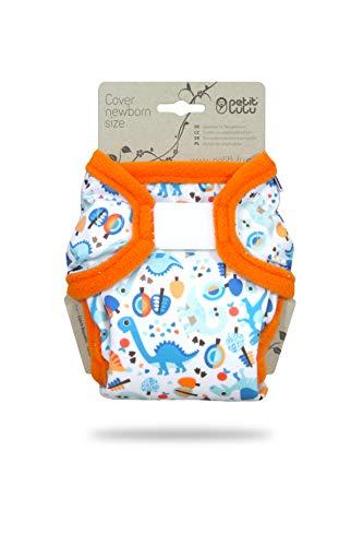Petit Lulu Cobertor Recién Nacidos (2 - 6 kg) para pañales de tela (Prehistoric Times)