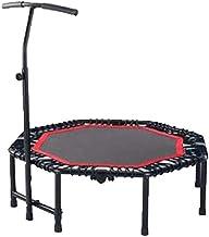 Oefening Trampoline met handvatbalk, indoor trampoline vouwen mini-trampoline met leuning verstelbare fitness trampoline o...