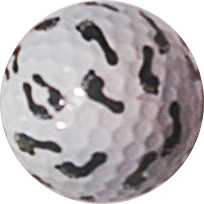 Footprint Golf ball Great Gift Item won't Fade or Chip