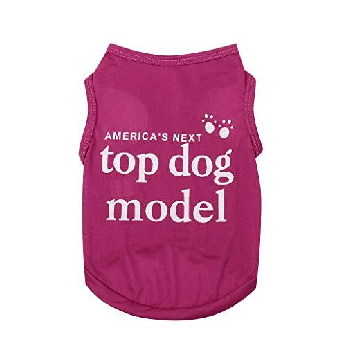 SUGEER Sommer Pet Weste Hundemantel Haustier Mantel Hund Kleider Mantel Kleidung Pullover Haustier Welpen T-Shirt,Briefdruck Hunde Pullover Bekleidung Dog Katze Haustier