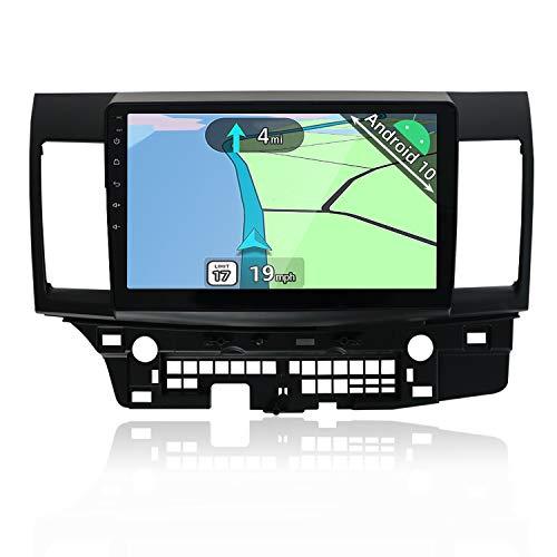 YUNTX Android 10 Autoradio Compatible con Mitsubishi Lancer (2010-2016) - 10,1 Pulgadas - 2 DIN - Cámara Trasera Gratis - Soporte GPS/Dab+ / Mandos de Volante / 4G / WiFi/Bluetooth/MirrorLink