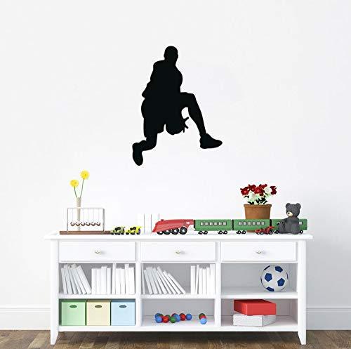 HNXDP Spielen Sie Basketball Art Wandaufkleber Vinyl Wandaufkleber Hot Sale GYM Sport Decals Dekor für Kinder Jungen Schlafzimmer 57cmX44cm