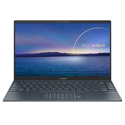 """ASUS ZenBook 14 UX425EA-HM165T - Portátil de 14 """" FullHD (Intel Core i7-1165G7, 16GB RAM, 512GB SSD, Intel UHD Graphics, Windows 10 Home) Gris Pino - Teclado QWERTY español"""
