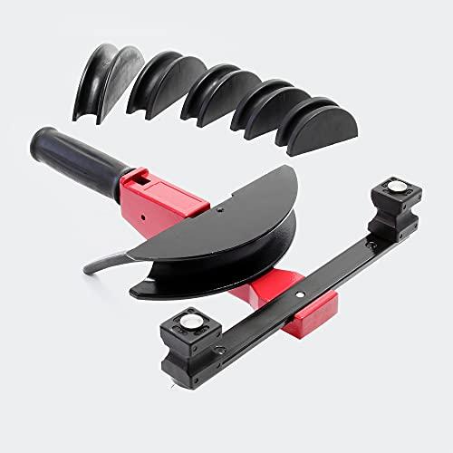 Curvdora de tubos manual 14-32 mm con radio de flexión de 90°, para tubos de aluminio y plástico